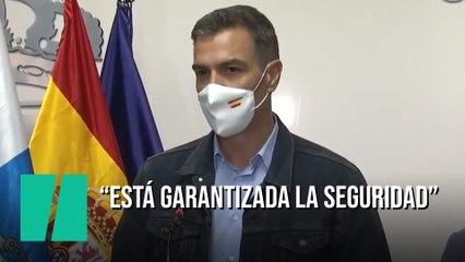 """Pedro Sánchez, tras la erupción de La Palma: """"Está garantizada la seguridad"""""""