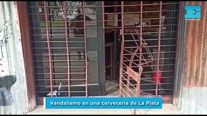 Vandalismo en una cervecería de La Plata