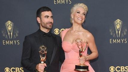 Brett Goldstein & Hannah Waddingham - Emmys Backstage