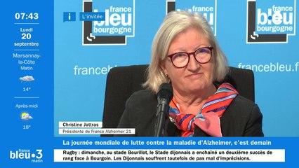 Christine Jottras, présidente de l'association France Alzheimer 21