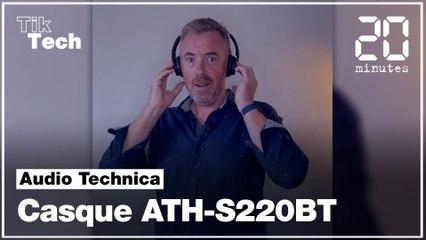 On a testé le casque Bluetooth ATH-S220BT d'Audio Technica