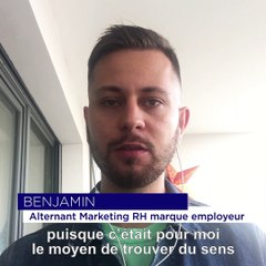 Benjamin, alternant marketing RH marque employeur