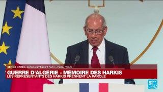 Guerre d'Algérie : des Harkis et leurs familles témoignent à l'Elysée