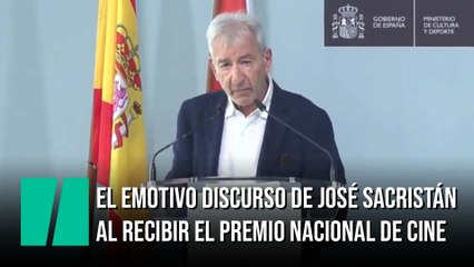El emotivo discurso de José Sacristán al recibir el Premio Nacional de Cinematografía