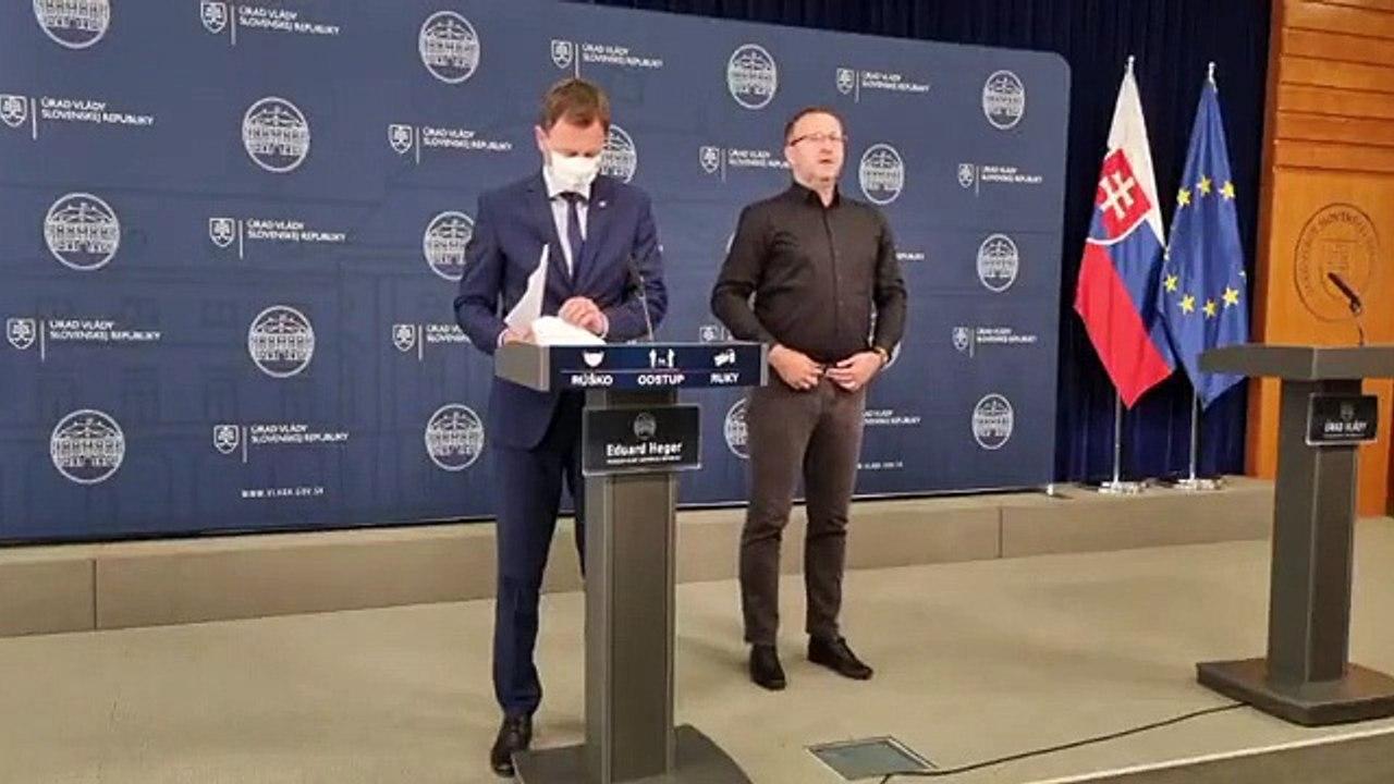 ZÁZNAM: TK premiéra E. Hegera po rokovaní odbornej pracovnej skupiny k situácii v bezpečnostných zložkách
