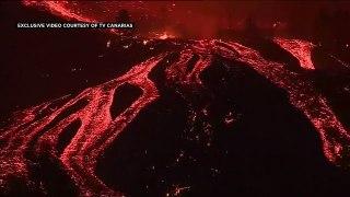 La Palma volcano: Lava destroys 100 homes after eruption in Canary Islands