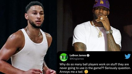 LeBron James BLASTED For Sub-Tweeted Ben Simmons Asking Why Players Practice Moves They NEVER Use