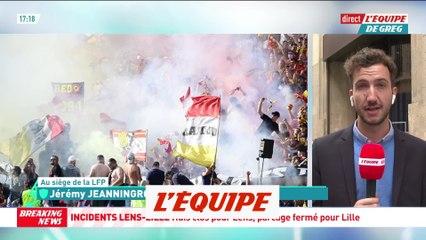 Lens sanctionné d'au moins deux matches à huis clos par la LFP - Foot - L1 - Incidents Lens-Lille