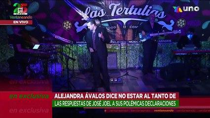 Alejandra Ávalos no da importancia a la ausencia de José Joel en festival.   Ventaneando