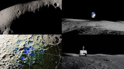 Tour of NASA Moon Rover South Pole Landing Site