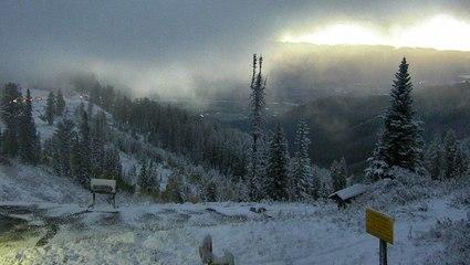 September snow falls in the Northwest