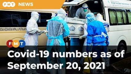 Covid-19 numbers as of September 20, 2021
