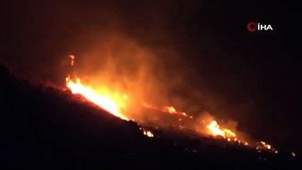 Bodrum'daki yangın ekip çalışması ile söndürüldü