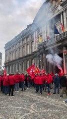 Liège: de nombreux syndicalistes pour soutenir les prévenus