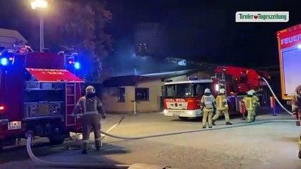 Großbrand in Wäscherei in Vomp
