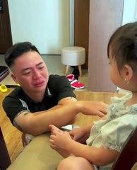 Hot rần rần trên mạng: Bố khóc khi con gái bị đánh, khóc khi con đi học!