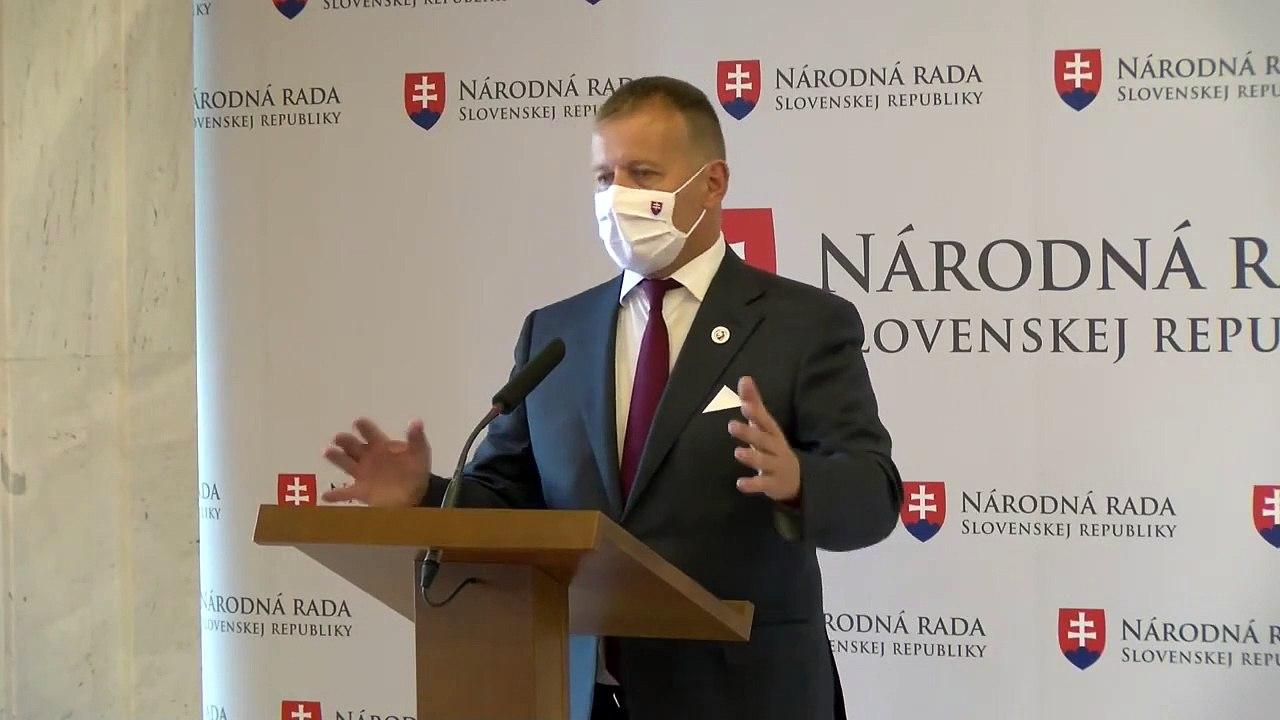 ZÁZNAM: Aktuálna politická situácia - brífing predsedu Národnej rady SR Borisa Kollára