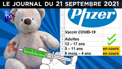 Vaccins Covid : C'est parti pour les petits ! - JT du mardi 21 septembre 2021