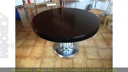 TAVOLO ROTONDO ESTENDIBILE