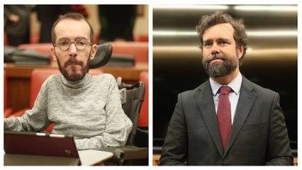 """Espinosa de los Monteros hunde a Echenique por insultar al periodista que preguntó por 'El Pollo' Carvajal: """"Me alegro que seamos mejores que ellos"""""""