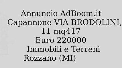 Capannone VIA BRODOLINI,11 mq417