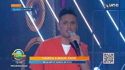 Miguel Ángel debutó como solista con el tema 'El rock de la cárcel'.   Venga La Alegría