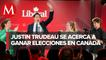 Perfilan victoria de Trudeau en elecciones anticipadas en Canadá