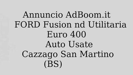 FORD Fusion nd Utilitaria