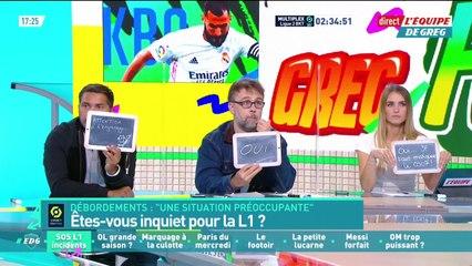 Débordements dans les stades, faut-il être inquiet pour la Ligue 1 ? - L'Équipe de Greg - extrait
