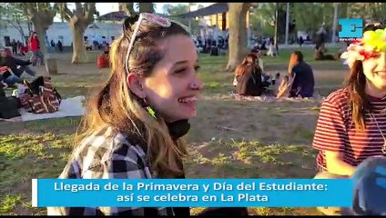 Llegada de la Primavera y Día del Estudiante: así se celebra en La Plata