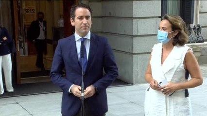 """Egea afea a Yolanda Díaz que no le haya respondido en la sesión de control: """"No lo hubiera hecho ni Pablo Iglesias"""""""
