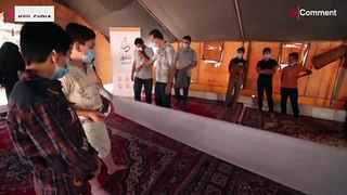 Displaced Syrian children in Idlib compose 'letters of peace'