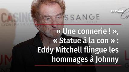 « Une connerie ! », « Statue à la con » : Eddy Mitchell flingue les hommages à Johnny