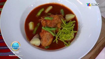 ¡Aprende a preparar un delicioso Pollito enchilado con el chef Mariano!   Venga La Alegría