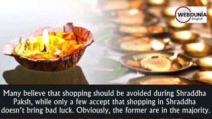 Should we go shopping during Shraddha Paksha or not?