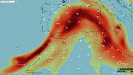 Una nube de dióxido de azufre cubrirá parcialmente España a partir del viernes, prevé Copernicus