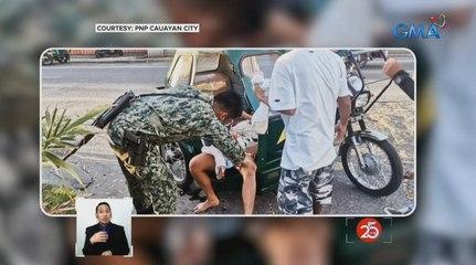 Buntis na inabutan ng panganganak sa tricycle, tinulungan ng pulis na isa palang registered nurse | Saksi