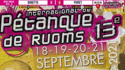 Demi-finale spectaculaire BONETTO vs ZIMMERMANN : International à pétanque de RUOMS - 18 & 19 septembre 2021