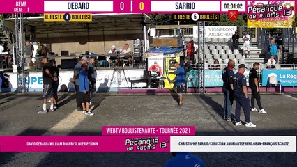 8ème DEBARD vs SARRIO / PHILIPSON vs BLANC : International à pétanque de RUOMS - 18 & 19 septembre 2021