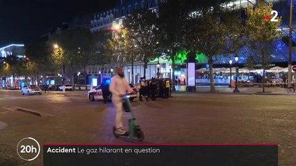 Accident de voiture à Paris : l'usage du gaz hilarant questionné