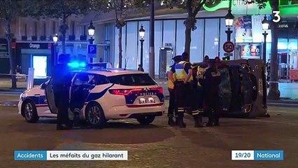 Accident à Paris : lumière sur les méfaits du gaz hilarant