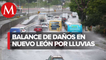 Deslaves y vehículos varados tras lluvias en Nuevo León
