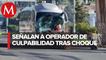 Van contra conductor de autobús que causó carambola en Xalapa