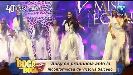 Susy Sacoto se refiere a los comentarios de Victoria Salcedo tras el Miss Ecuador
