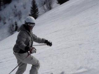 les enfants font du ski