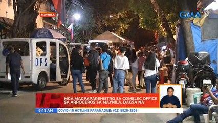 Mga magpaparehistro sa COMELEC office sa Arroceros sa Maynila, dagsa na | UB