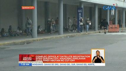 COMELEC office at satelite registration sites Quezon City, maagang pinilahan para hindi abutan ng cut-off | UB