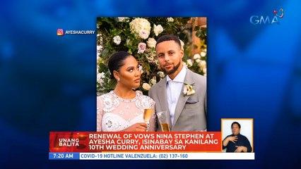Renewal of vows nina Stephen at Ayesha Curry, isinabay sa kanilagn 10th wedding anniversary | UB