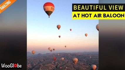 'Timelapse footage of a 'dreamy' hot-air balloon ride over Cappadocia, Turkey'