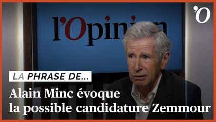 Alain Minc: «Zemmour hystérise une société qui n'en a pas besoin»